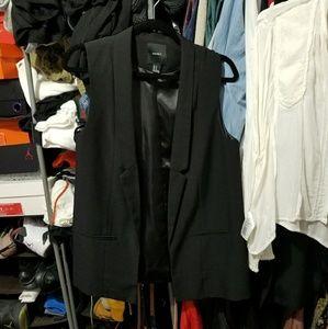Forever 21 Black Tuxedo Vest size M